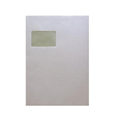 Versandtaschen C4 mit Fenster selbstklebend 100g weiß 50 Stück