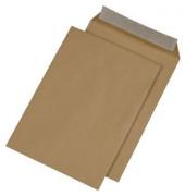 Faltentaschen C4 ohne Fenster 20mm Falte haftklebend 90g braun 250 Stück