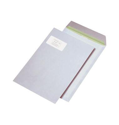 Versandtaschen C4 mit Fenster haftklebend 90g weiß 250 Stück Recycling
