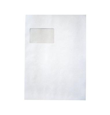 Versandtaschen C4 mit Fenster haftklebend 120g weiß 250 Stück