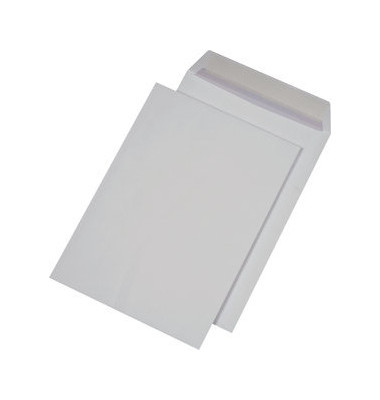 Versandtaschen C4 ohne Fenster haftlklebend 120g weiß 250 Stück