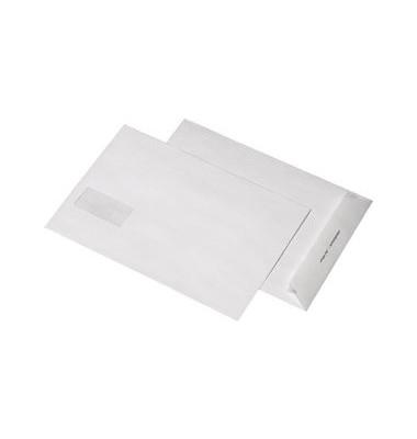 Versandtaschen B4 mit Fenster haftklebend 120g weiß 250 Stück