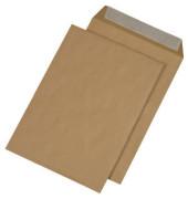 Faltentaschen B4 ohne Fenster 20mm Falte haftklebend 90g braun 250 Stück