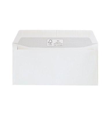 Briefumschläge Din Lang ohne Fenster haftklebend 100g weiß 500 Stück