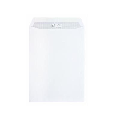 Versandtaschen B4 ohne Fenster haftklebend 100g weiß 100 Stück