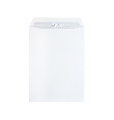 Versandtaschen B4 ohne Fenster haftklebend 100g weiß 250 Stück
