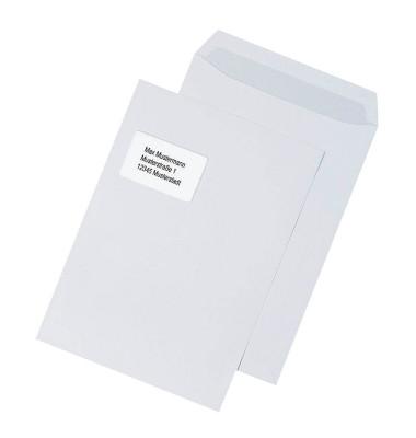 Versandtaschen C4 mit Fenster haftklebend 100g weiß 100 Stück