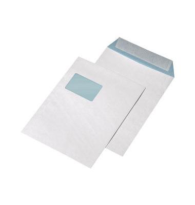 Versandtaschen C4 mit Fenster haftklebend fadenverstärkt 135g weiß 100 Stück