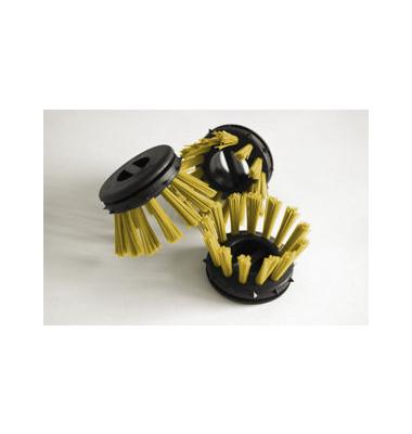 Rundbürsten für Schmutzfangmatten gelb 10 Stück