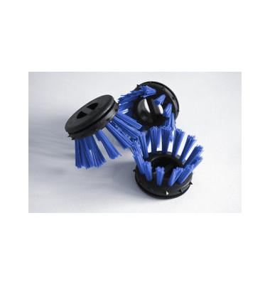 Rundbürsten für Schmutzfangmatten blau 10 Stück