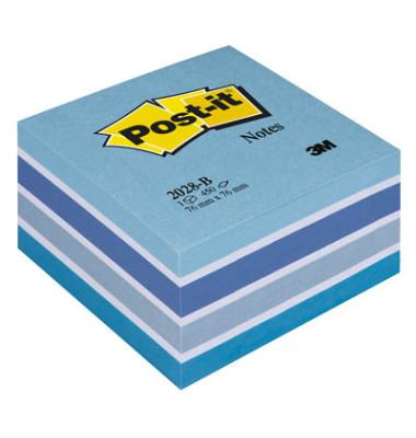 Haftnotizwürfel 76 x 76mm pastellblau 450 Blatt