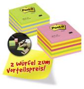 Haftnotizwürfel Promopack 76 x 76mm 6 farbig sortiert 2 x 450 Blatt