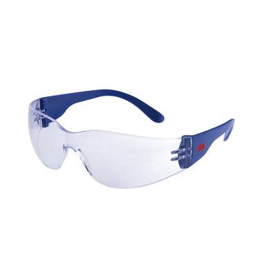 Schutzbrille AS/AF/UV klar/bl Polycarbonat