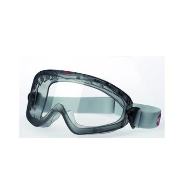 Vollsichtbrille verstellbar klar/gr AS/AF/UV Polycar.