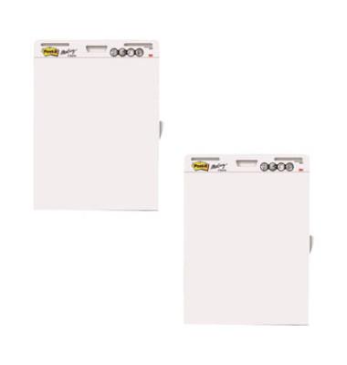 Flipchartblock Meeting Chart blanko weiß 30 Blatt