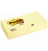 Haftnotizen 630-6PK liniert gelb 76 x 76mm 6x100 Bl