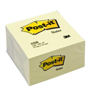 Haftnotizwürfel 76 x 76mm gelb 450 Blatt