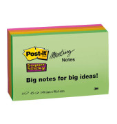 Meeting Notes Super Sticky neon 149 x 98mm 180 Blatt