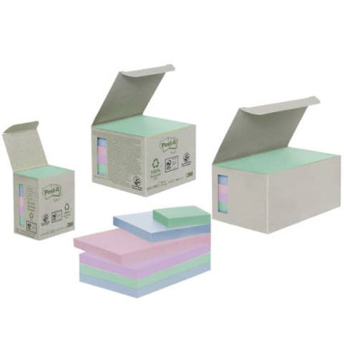 Haftnotizen 38 x 51mm 6-farbig sortiert 6 x 100 Blatt