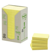 Haftnotizen 38 x 51mm gelb 24 x 100 Blatt