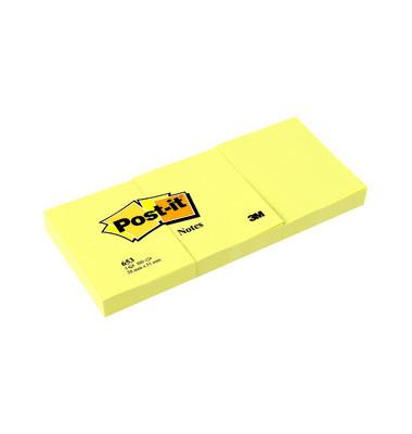 Haftnotizen 51 x 38mm gelb 3 x 100 Blatt