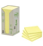 Haftnotizen 76 x 76mm gelb 16 x 100 Blatt