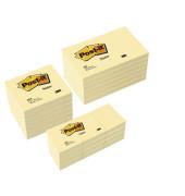 Haftnotiz Sparpack je 6 x 127 x 76mm ,76 x 76mm und 12 x  51 x 38mm gelb je 100 Blatt