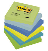 Haftnotizen Dreamy 76 x 76mm 6-farbig sortiert 6 x 100 Blatt