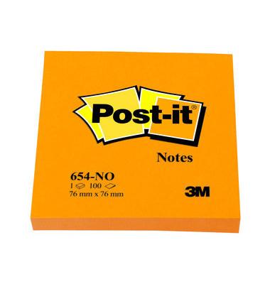 Haftnotizen Neon 654N orange 76 x 76mm 100 Blatt