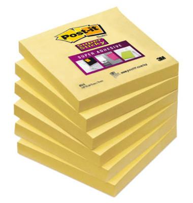Haftnotizen Super Sticky 76 x 76mm narzissengelb 90 Blatt