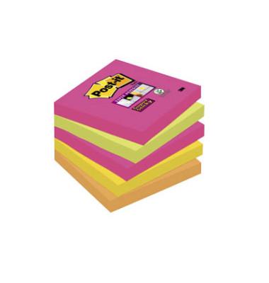 Haftnotizen Super Sticky 76 x 76mm neon 5-farbig sortiert 5 x 90 Blatt