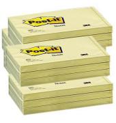 Haftnotizen 127 x 76mm gelb 100 Blatt