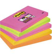 Haftnotizen Super Sticky 127 x 76mm neon 5-farbig sortiert 5 x 90 Blatt