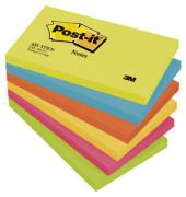 Haftnotizen Active 127 x 76mm 5-farbig sortiert 6 x 100 Blatt