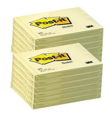 Haftnotizen 102 x 76mm gelb 100 Blatt