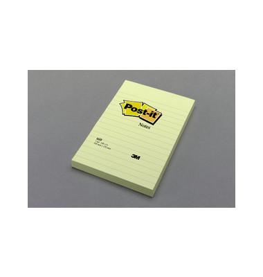 Haftnotizen Super Sticky 102 x 152mm gelb 75 Blatt