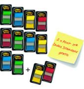 Index Haftstreifen 680 4 farbig 25,4x43,2 mm 4x3 Stück