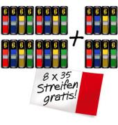 Index Haftstreifen Mini 4+2 gratis sortiert ro/bl/ge/gn 6x4x35St