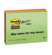Meeting Notes Super Sticky neon 200x149mm 180 Bl