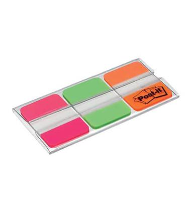 Index Haftstreifen pink/grün/orange strong je 22 Stück