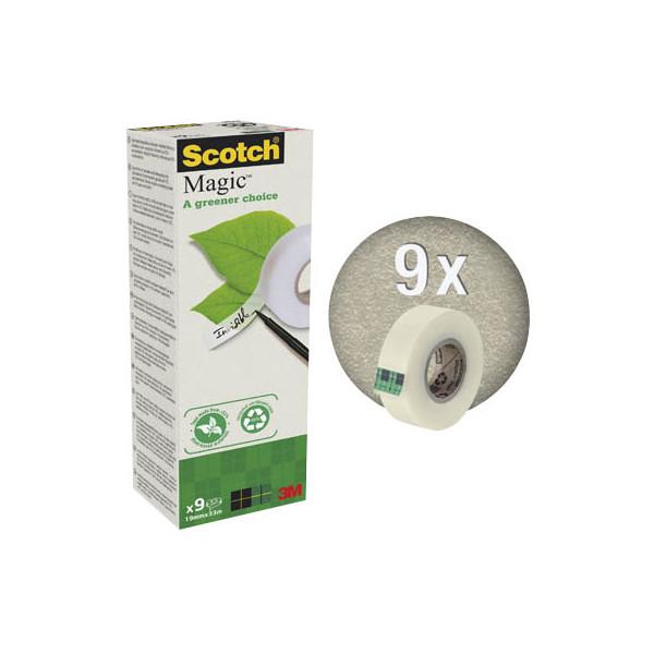 Scotch klebeband magic rc 900 9 rollen 19mmx33m for Schreibtisch 1m lang
