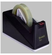 Tischabroller C10 bis 25mm x 66m leer schwarz