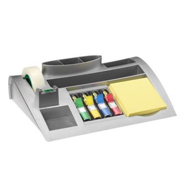 Schreibtischorganizer gefüllt silber