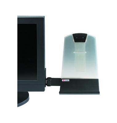 Konzepthalter für Flachbildschirme schwarz hält bis 30 Seiten A4