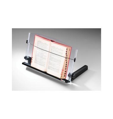 Konzepthalter DH640 A3-quer schwarz mit Fuß Acryl 28x46x10cm