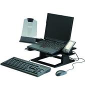 Notebookständer verstellbar schwarz 33x33x10-15 LX 500