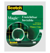 Klebeband Magic Tape 810 19mm x 7,5m transparent im Abroller grün