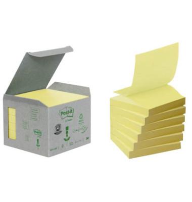 Haftnotizen Z-Notes 76 x 76mm gelb 6 x 100 Blatt