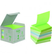 Recycling Z-Notes 6x100 Bl pastell 76x76mm