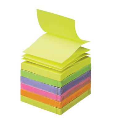 Z-Notes R330NR 76 x 76mm Haftnotizen neon 6-farbig sortiert